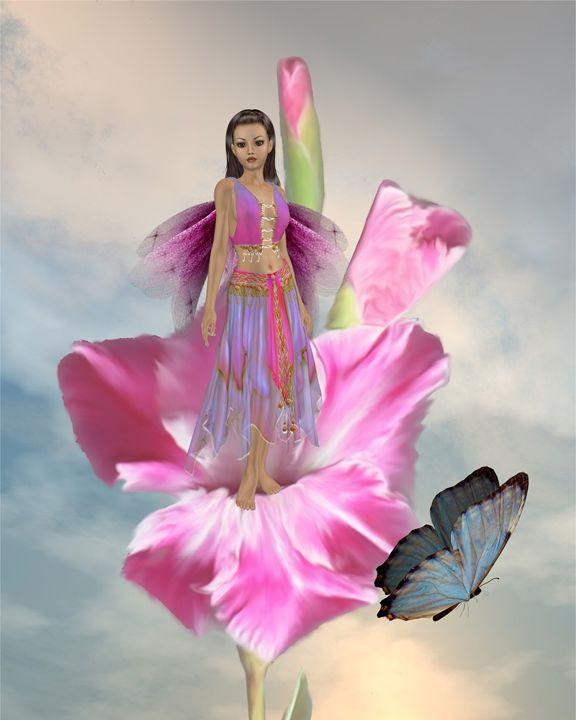 Flower Fairy - Kathy Gold Art