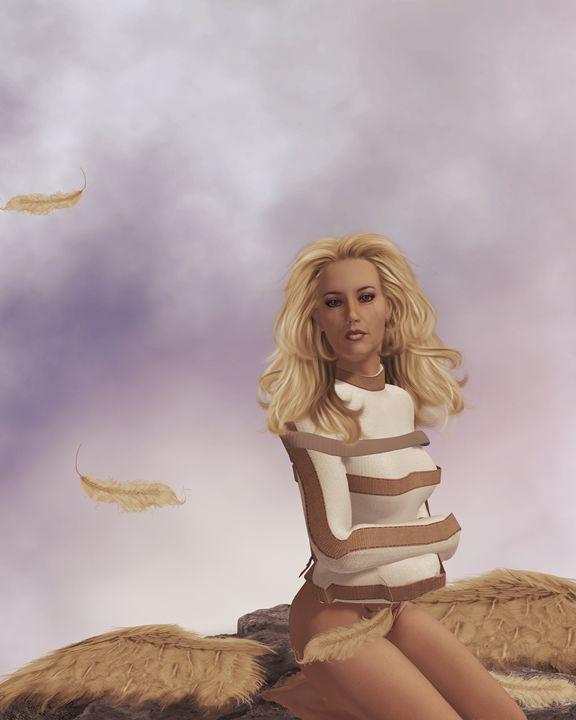When Angels Fall - Kathy Gold Art