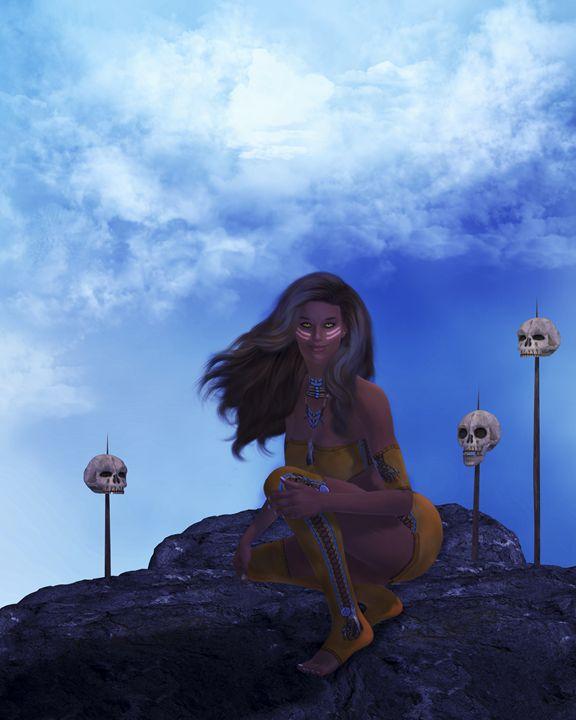 Warrior & the Wind - Kathy Gold Art