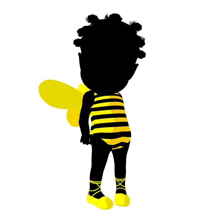 Little African American Bumble Bee - Kathy Gold Art