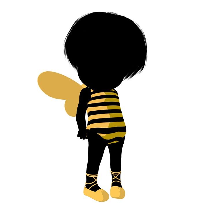 Little Bumble Bee Girl - Kathy Gold Art