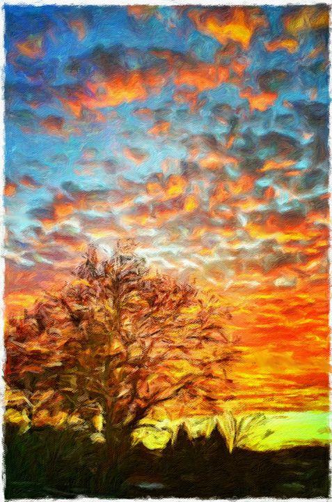 Backyard Sunrise - MyArt: Brenda Knoll