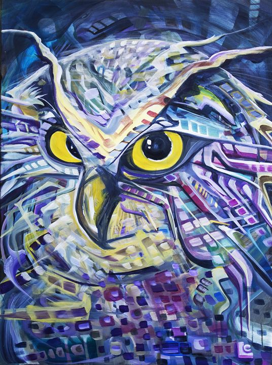 Galactic Owl - Larry Calabrese Art