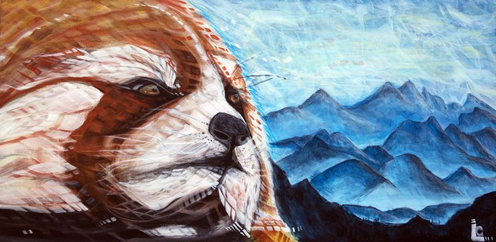 Red Panda Hill - Larry Calabrese Art