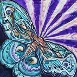Original Moth Painting