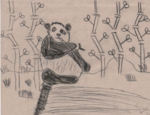 Hungry Baby Panda