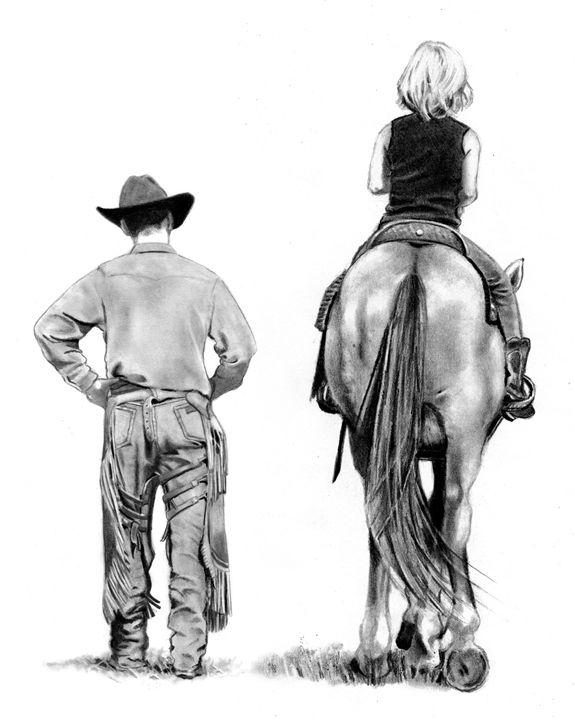 The Riding Lesson - JoyfulArt