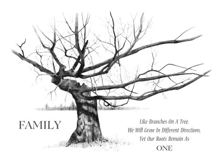 Gnarled Old Tree, Family Roots - JoyfulArt