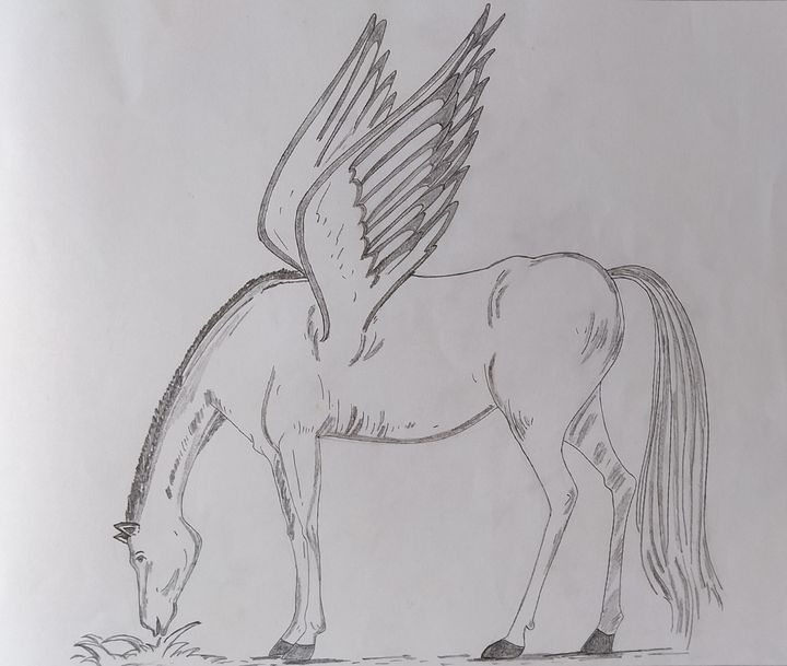 horse with wings - Juhi