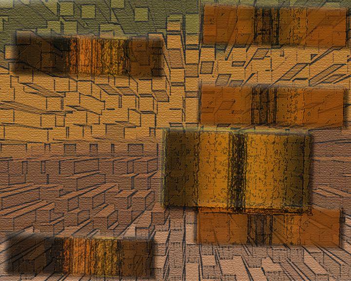 Wooden Extrusion - Jodie Herpel - Digital Art, Buildings