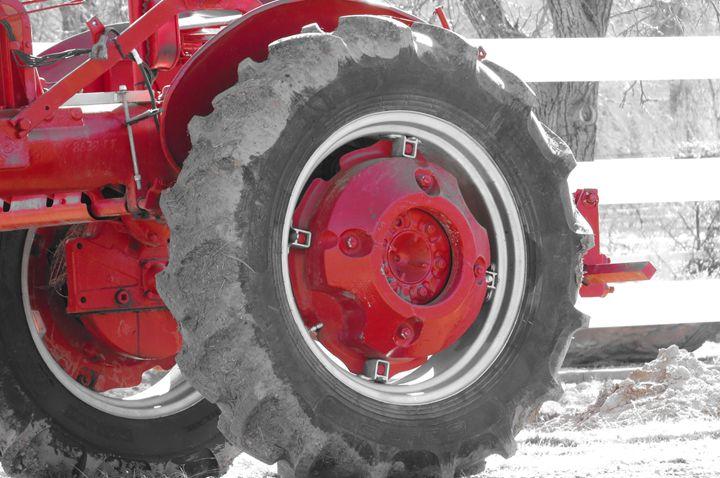Tractor Kissed by Red - Jodie Herpel