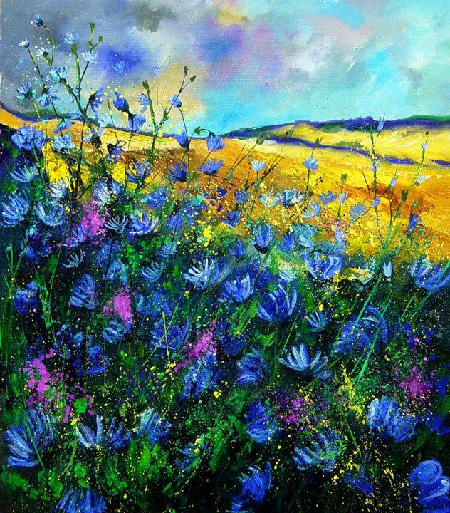 wild chicorees - Pol Ledent's paintings