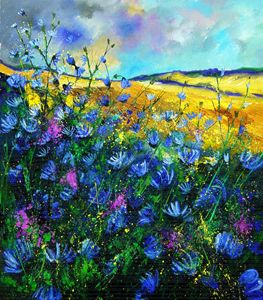 wild chicorees - Pol Ledent's paintings
