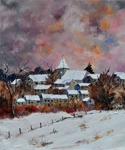Awagne in winter - Pol Ledent's paintings