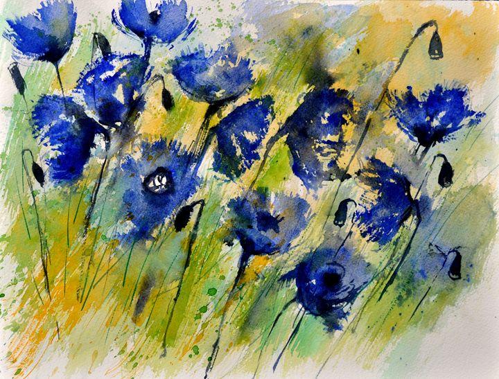 Blue cornflowers - Pol Ledent's paintings