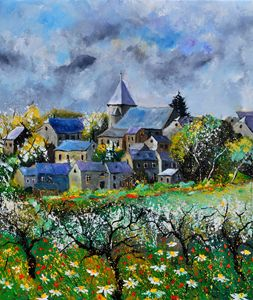 awagne in spring - Pol Ledent's paintings