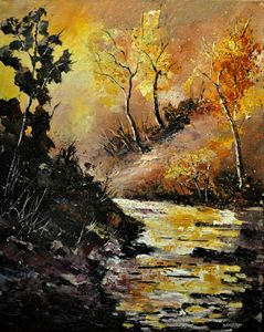 River in autumn - Pol Ledent's paintings