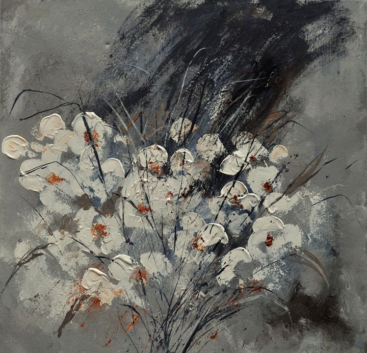 Abstract flowers - Pol Ledent's paintings
