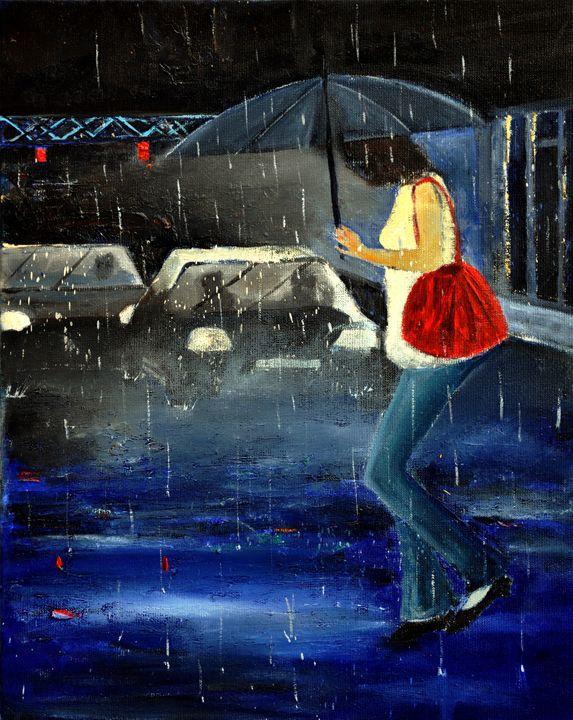 in the rain - Pol Ledent's paintings