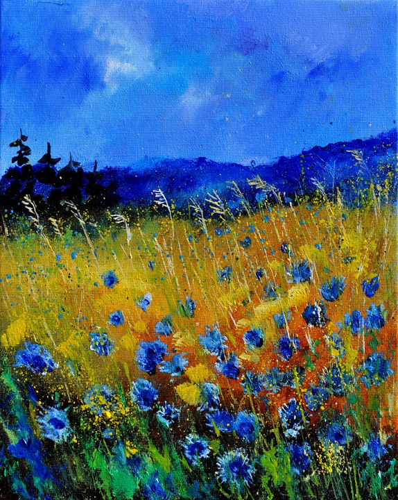 blue poppies 45 - Pol Ledent's paintings