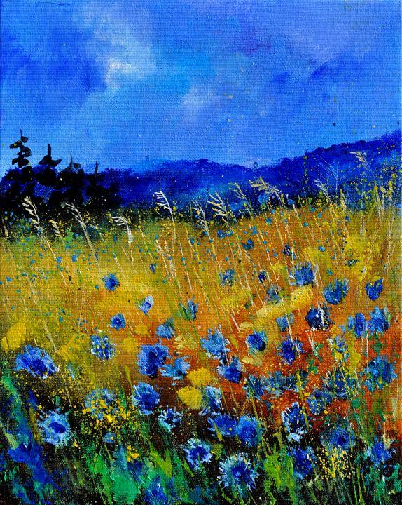 blue poppies 45 - Pol Ledent's paintings