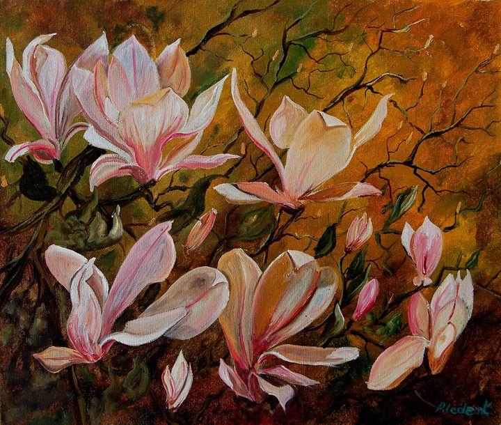 Magnolias - Pol Ledent's paintings