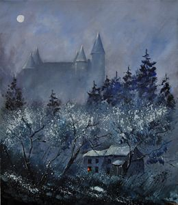 Medieval castle of Vêves - Pol Ledent's paintings