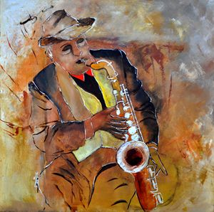 sax player 88 - Pol Ledent's paintings