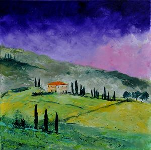 tuscany 663110 - Pol Ledent's paintings