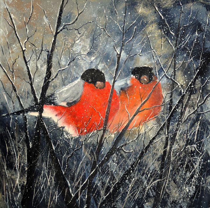 two birds - Pol Ledent's paintings