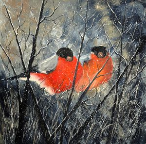 two birds - Pol Ledent's paintings