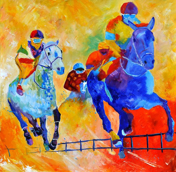 Horse race 883140 - Pol Ledent's paintings
