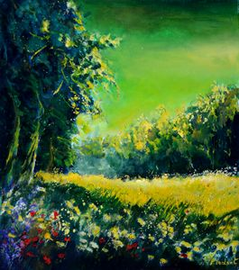 Summer field - Pol Ledent's paintings