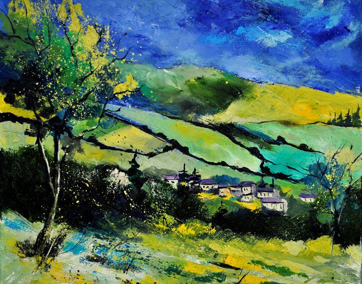 spring landscape - Pol Ledent's paintings
