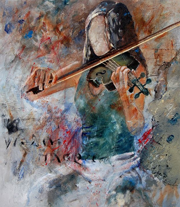 violinist 5631 - Pol Ledent's paintings