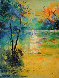 Light on a pond - Pol Ledent's paintings