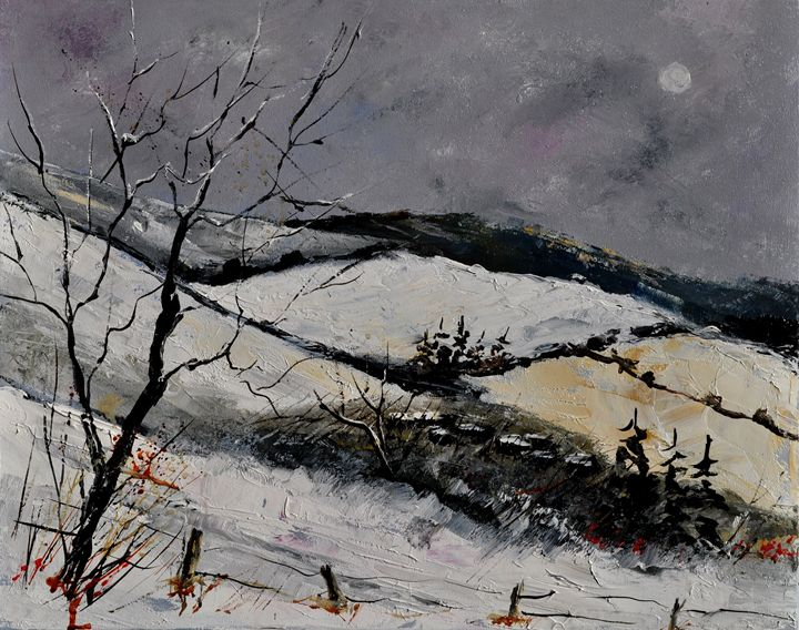 snowy landscape 453101 - Pol Ledent's paintings