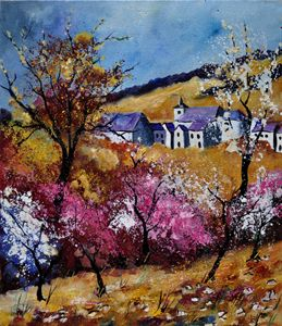 spring in sosoye - Pol Ledent's paintings