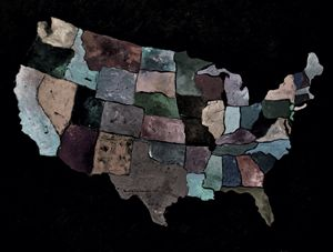 map of the usa - Pol Ledent's paintings