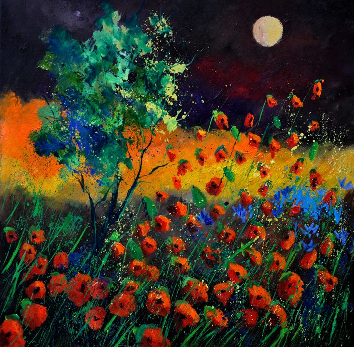 Poppies 7741 - Pol Ledent's paintings