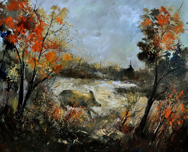 wild boar 5641 - Pol Ledent's paintings