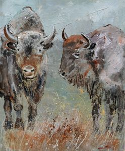 Buffaloes - Pol Ledent's paintings