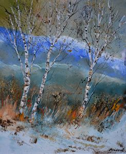 Three aspen trees - Pol Ledent's paintings