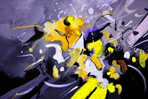 yellow galactic flight - Pol Ledent's paintings