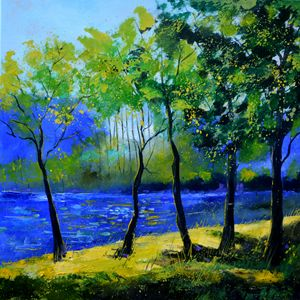 Blue river - Pol Ledent's paintings