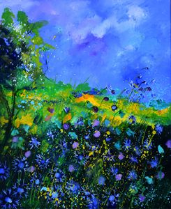 blue cornflowers 5671 - Pol Ledent's paintings