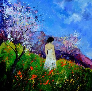 Summer walk in poppies - Pol Ledent's paintings
