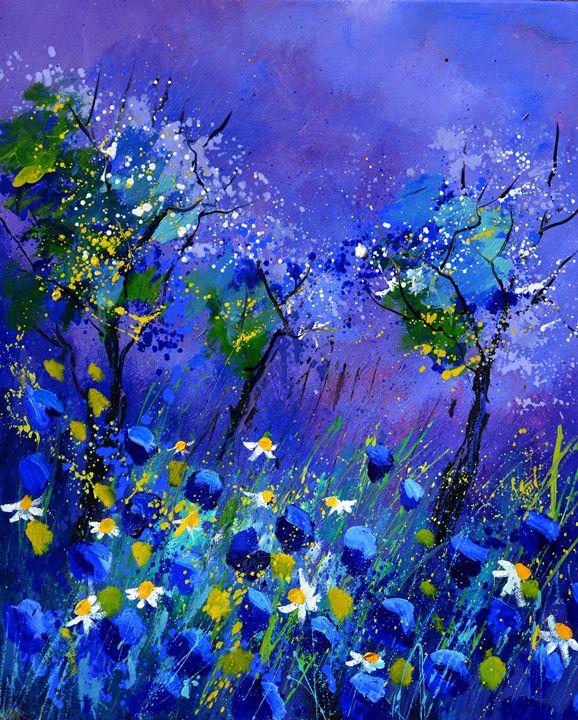 blue flowers 566160 - Pol Ledent's paintings