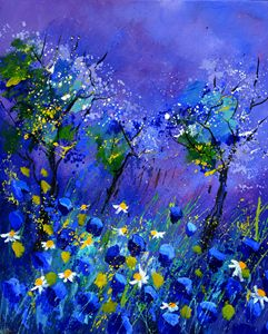 blue flowers 566160 - Pol Ledent's paintings