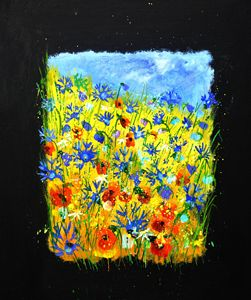 flowers 677130 - Pol Ledent's paintings